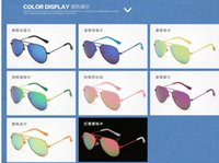 baby amber beads - 2016 child baby Fashion Sunglasses Women UV400 Vintage Shades Bead Round Alloy Frame Sun Glasses Luxury Famous Brand Designer