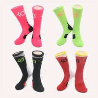 ankle sports socks - hot mens new thick bottom towel male socks knee high KD elite basketball football soccer sport long tube crew sock terry socks for men dress