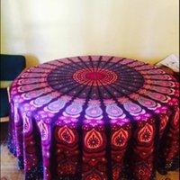 Wholesale New Chiffon Indian Mandala Round Round Beach Tapestry Boho Gypsy Tablecloth Beach Towel Round Yoga Mat