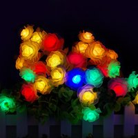 ac rise - 10M led string lights Colorful Rose led flower holiday decoration lamp Festival Christmas lights indoor outdoor lighting