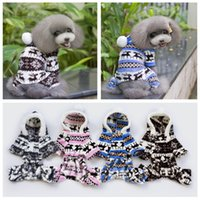 baby dog halloween costume - Brand new Pet Fashion series QZ143 Dog baby tetrapod clothes deer pattern Christmas clothes winter autumn colors black blue pink coffee