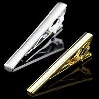 Wholesale Men Metal Necktie Tie Bar Clasp Clip Silver Gold Simple Formal Dress Shirt C00193 OST
