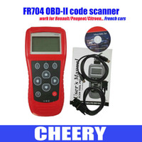 Wholesale FR704 code scanner FR704 OBDII Scan Tool auto diagnostic tool Reads Engine A T Transmission French cars for Peugeot for Citroen for Renault