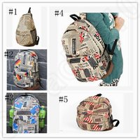 backpack banners - Flag newspaper Map Star Banner Backpack style oxford cloth printed American US UK Flag schoolbag for teenager OOA195