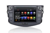 Android Car DVD PC para toyota RAV4 Con GPS, Bluetooth, Radio, FM, AM, RDS, MP3, MP4, DVD, SD, USB, control de rueda