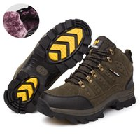 ankle boo - New mens outdoor shoes snow boots winter brand anti skid mountain climbing boots breathable outdoor hiking shoes casual boos