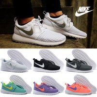 authentic cheap basketball shoes - Nike Roshe One Running Shoes Men Women High Quality Authentic Sneakers Cheap Walking RosheRun White silver Sports Shoes Size