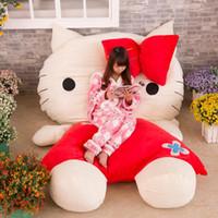 big bag filling - 2016 Huge Comfortable Hello Kitty Cute Cat Soft Cartoon Bed Sleeping Bag Pad Filling Stuffed Plush Tatami Big Large Size Toys Doll