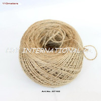 Wholesale Jute String Rope Tie Strap Band Rustic Christmas tags Wedding Strings ST102