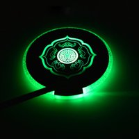 Wholesale LED slim Coaster Color Change Light Up Drink Cup Mat Tableware Glow Bar Club Party