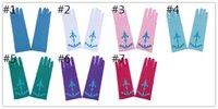 Wholesale Full Finger Gloves for Halloween Christmas Party Snow Queen Elsa Gloves Elsa Cosplay Costume Snow Queen Child Anime Gloves Coronation