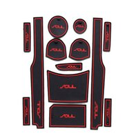 Wholesale 13pcs Non Slip Rubber Interior Car Door Armrest Storage Panel Mat Cup Holder Slot Pad Cover Sticker For KIA Soul
