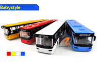 big bus tours - Alloy Car Model Toy Classic Tour Bus Coach Model High Simulation with Sound Head Lights Kid Christmas Gifts Collecting Home Decoration