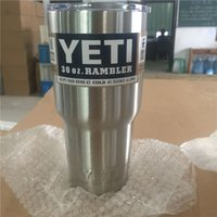 stainless steel double wall bottle - 304 Stainless Steel oz Yeti Cups Cooler YETI Rambler Tumbler Cup Vehicle Beer Mug Double Wall Bilayer Vacuum Insulated ml