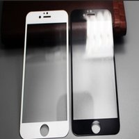 anti glare protection - Iphone6 Plus Mobile Phone Protection Film HD I6 Glass Tempered Film Side Precision Screen Printing Full Coverage