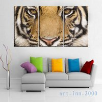 bengal tiger art - Original US high tech HD Print Portrait Oil Painting Wall Decor Art on Canvas animals india bengal tiger x20inchx3