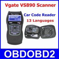 Wholesale Live Data Scanner Vgate VS890 OBD2 Car Code Reader VGATE VS Read All DTCs OBDII VS Reset Engine MIL LCD Multi Lanugages