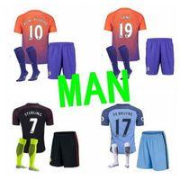 best socks men - best thai quality Manchester city man s kits with socks soccer Jerseys rd KUN AGUERO DE BRUYNE STERLING SILVA football shirt