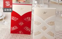Wholesale 2017 Custom Made Personalized Lace Hollow Wedding Invitations Free Printing Inner Sheet cm cm Laser Cut Wedding Cards Birthday Cards