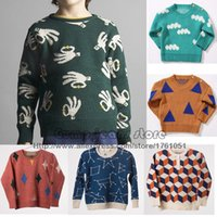 baby horse jumper - 2016 New Bobo Choses Kids Sweater Cloud Horse Triangle Pattern Jumper For Boys Girls Baby Fall Sweaters Clothing Autumn Winter MC0408