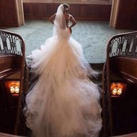 Wholesale 2016 gorgeous bridal veil meters