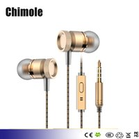 Wholesale Elough Professional In Ear Earphone Metal Stereo Earphone With Mic Pad For Apple Iphone Samsung Sony Earphone Headphone