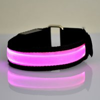 Wholesale Color LED Lighted Wristband Luminous Bracelets Nocturnal Band Running Security Arm Band Fluorescence Switch Control Led Rave Toy For Party