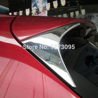 accessories rear spoiler - For Mazda CX CX5 CX ABS Chrome Rear Window Spoiler Side Cover Tail Triangle Trim Car Styling Accessories
