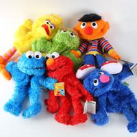 achat en gros de grandes mains de poupée-Gros-Cartoon Sesame Street Hand Puppet Fantoche Doll Grand Puppet souple en peluche pour enfants Enfants