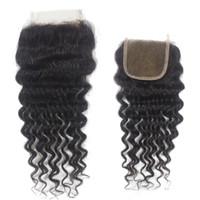 Wholesale Virgin Top Lace Closure quot x quot quot X4 quot quot X5 quot human hair A Brazilian Hair deep wave remy hair closure