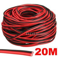 awg copper wire - meters Electrical Wire Tinned Copper Pin AWG insulated PVC Extension LED Strip Cable Red Black Wire Electric Extend Cord