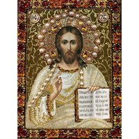 bible readings - Full diamond Diy d cross stitch mosaic diamond pattern religion Jesus himself reading the bible embroidery crafts painting