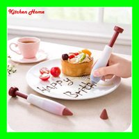 bake plate - Silicone Plate Pen Cake Dessert Decorators Baking Pastry Tools Cream DIY Chocolate Icing Decorating Syringe New Decor Chocolate Pen