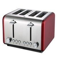 Wholesale XIANGJUN four commercial toaster toaster household automatic toaster breakfast slot wide four steel liner shell super power four baking