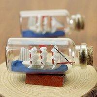 antique bottle stopper - Mini Cork Stopper Bottles Sailing Boat Micro Landscape Marine style Clear Glass Wishing Bottles Wedding Drift bottles