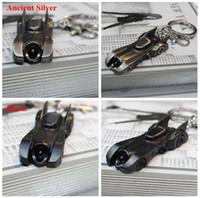 batman car accessories - 2016 BATMAN V SUPERMAN Movies Accessories Batman Chariot Batmobile Keychain Strap Alloy Keyring Ancient silver Black LJJJ83
