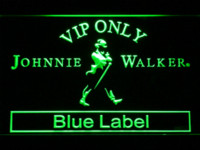 Wholesale 480 VIP Only Johnnie Walker Blue Label LED Neon Sign Cheap label deactivator High Quality label pictures