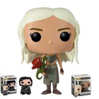 big jon - 10cm Funko POP Game of Thrones Daenerys Targaryen Action Figure Jon Snow Got Character Doll Q Edition