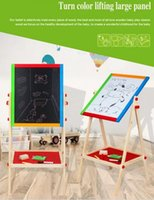 Wholesale FREESHIPPING Wooden Double sided magnetic children drawing board PHYZIOS Kids Paint Sketchpad