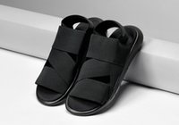 Wholesale Y Qasa Sandal Black new summer y3 sandal for men and women top quality Y3 Slipper