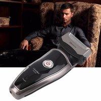 Wholesale Men s Rechargeable Cordless Electric Razor Shaver Double Edge Trimmer EU Plug Hot Selling