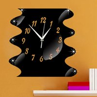 baby sponge bob - DIY Sponge Bob Modern Design Mirror Wall Clock D Wall Stickers Baby Mirrored Wall Clock Iiving Room