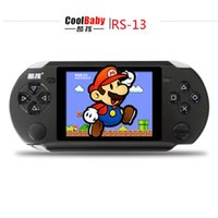Wholesale 3 inch Players Games Console Handheld Game CoolBaby RS Built Games IN Card Games Support AV External handles jeux