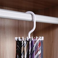 Wholesale Hot Sales Mens Rotating Organizes Ties Rack Adjustable Home Storage Hanger Plastic C418