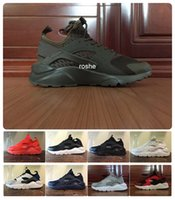 black flats shoes for women - 2016 New Colors Huaraches IV Running Shoes For Men Women Top Quality Air Huarache Run Ultra Breathable Mesh Cushion Sneakers Eur