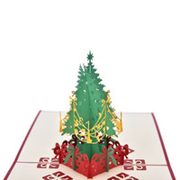 Wholesale 2016 new year merry christmas paper handmade custom greeting cards with animals trees houses towers moon