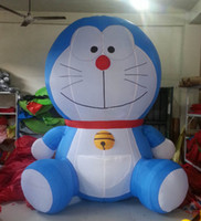Wholesale classic design standing blue Doraemon inflatable character cartoon for business
