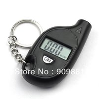 Wholesale Brand New Mini LCD Digital Tyre Tire Pressure Gauge Keychain Pressure Vacuum Testers Srong ABS Shell