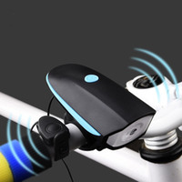 bell bicycle headlight - 2016 Cycling Mountain Bike Electric Horn Bicycle Super Bright Headlights Vocal USB Charging Night Riding Cycling Light Bell