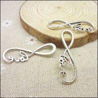 Wholesale 65pcs Charms Infinity Symbol love Connector Pendant Tibetan silver Zinc Alloy Fit Bracelet Necklace DIY Metal Jewelry Findings